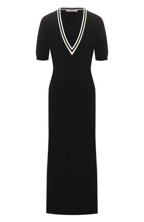 Женское хлопковое платье TAK.ORI черного цвета, арт. DRK61014WV100SS20 | Фото 1