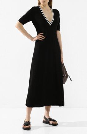Женское хлопковое платье TAK.ORI черного цвета, арт. DRK61014WV100SS20 | Фото 2