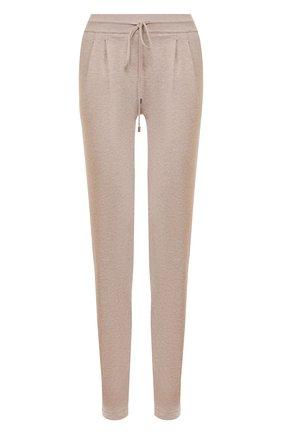 Женские хлопковые брюки TAK.ORI бежевого цвета, арт. PTK50019WV100SS20 | Фото 1