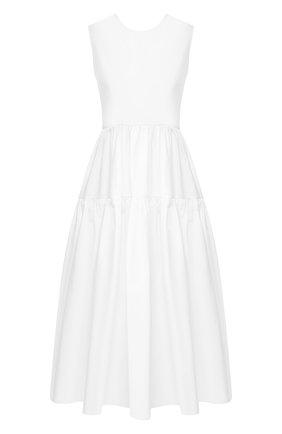 Женское хлопковое платье CECILIE BAHNSEN белого цвета, арт. PS20-0019 | Фото 1