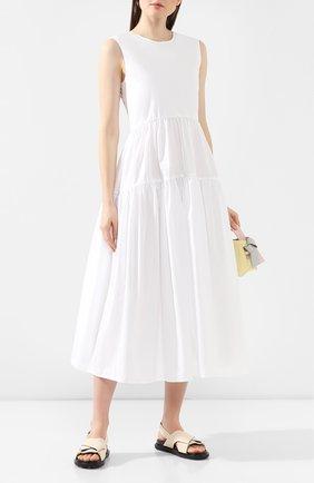 Женское хлопковое платье CECILIE BAHNSEN белого цвета, арт. PS20-0019 | Фото 2