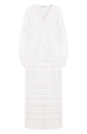 Женское льняное платье VITA KIN белого цвета, арт. DM-0015/NPT-1 | Фото 1