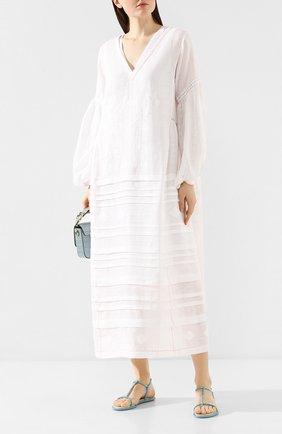 Женское льняное платье VITA KIN белого цвета, арт. DM-0015/NPT-1 | Фото 2