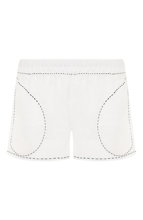 Женские льняные шорты VITA KIN белого цвета, арт. SHR-0053/NPL-2 | Фото 1