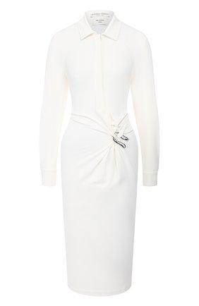 Женское платье из вискозы BOTTEGA VENETA белого цвета, арт. 609304/VKIJ0 | Фото 1