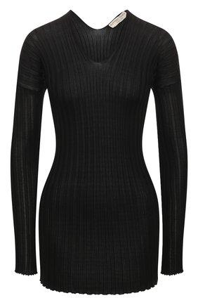 Женская шелковый пуловер BOTTEGA VENETA черного цвета, арт. 612079/VKJM0 | Фото 1