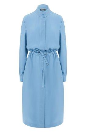 Женское шелковое платье LORO PIANA голубого цвета, арт. FAL0704 | Фото 1