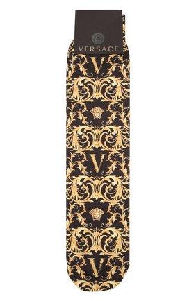 Женские носки VERSACE золотого цвета, арт. ICZD002/A233444 | Фото 1