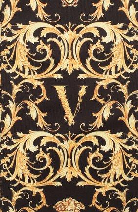 Женские носки VERSACE золотого цвета, арт. ICZD002/A233444 | Фото 2