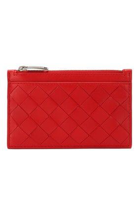 Женская кожаный футляр для ключей BOTTEGA VENETA красного цвета, арт. 608784/VCPP3 | Фото 1