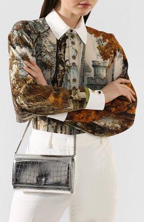 Женские кошелек hannah на цепочке BURBERRY серебряного цвета, арт. 8022335 | Фото 2