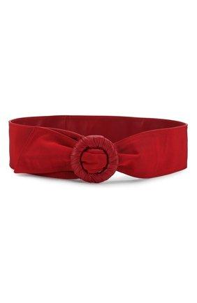 Женский текстильный пояс GIORGIO ARMANI красного цвета, арт. Y1I202/YNR2Y | Фото 1
