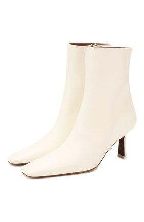 Женские кожаные ботильоны menea NEOUS белого цвета, арт. 00142A10 | Фото 1