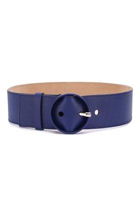 Женский кожаный ремень LORO PIANA синего цвета, арт. FAL1380 | Фото 1