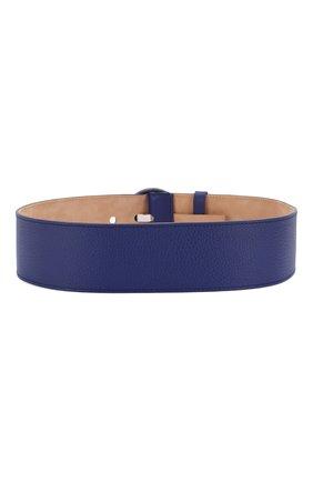 Женский кожаный ремень LORO PIANA синего цвета, арт. FAL1380 | Фото 2