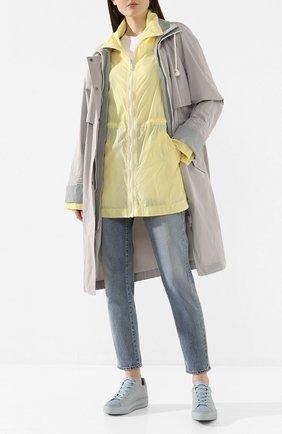Женские кожаные кеды xtra double RENE CAOVILLA голубого цвета, арт. C10346-020-NA01X362 | Фото 2