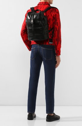 Мужской кожаный рюкзак TOD'S черного цвета, арт. XBMTDSG0300M37   Фото 2