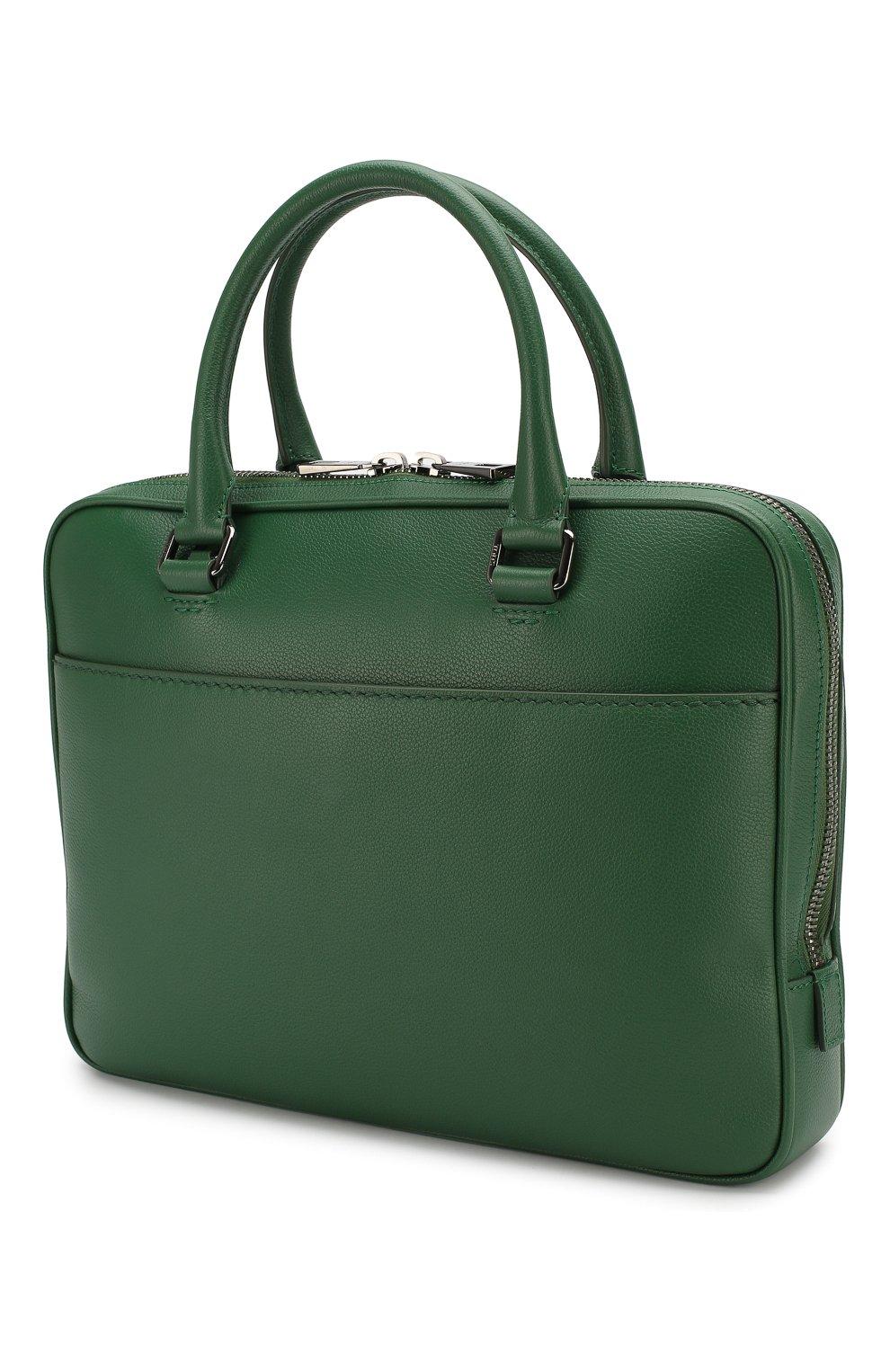 Кожаная сумка для ноутбука | Фото №3