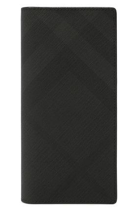 Мужской портмоне BURBERRY темно-серого цвета, арт. 8014479   Фото 1