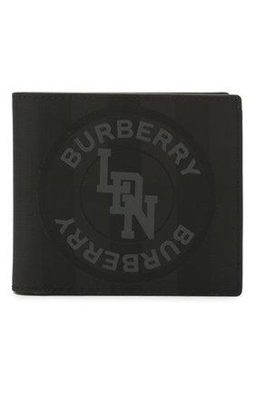 Мужской портмоне BURBERRY темно-серого цвета, арт. 8022553 | Фото 1
