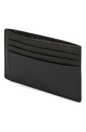 Мужской футляр для кредитных карт BURBERRY синего цвета, арт. 8024773   Фото 3 (Материал: Текстиль, Экокожа)