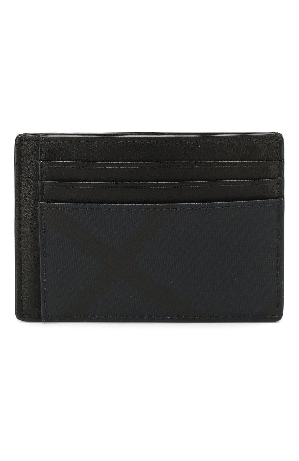 Мужской футляр для кредитных карт BURBERRY синего цвета, арт. 8024773   Фото 4 (Материал: Текстиль, Экокожа)