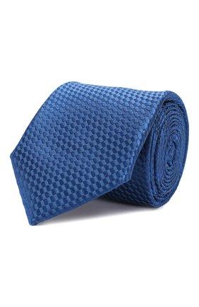 Мужской шелковый галстук ZILLI темно-синего цвета, арт. 50509/TIES | Фото 1