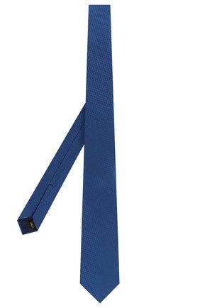Мужской шелковый галстук ZILLI темно-синего цвета, арт. 50509/TIES | Фото 2