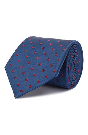 Мужской шелковый галстук ZILLI темно-синего цвета, арт. 50506/TIES | Фото 1