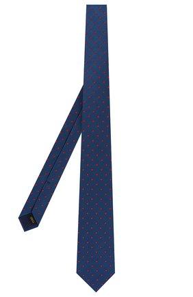 Мужской шелковый галстук ZILLI темно-синего цвета, арт. 50506/TIES | Фото 2