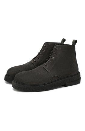 Мужские замшевые ботинки MARSELL серого цвета, арт. MM3090/PELLE R0VESCI0 | Фото 1