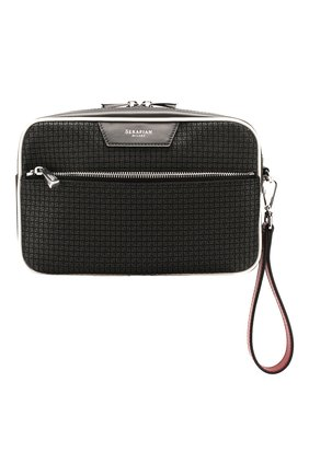 Мужская поясная сумка SERAPIAN серого цвета, арт. SSTEPMML7083M23A | Фото 1