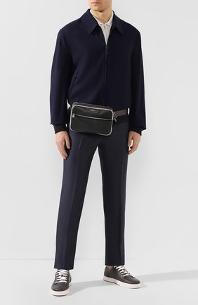 Мужская поясная сумка SERAPIAN серого цвета, арт. SSTEPMML7083M23A | Фото 2