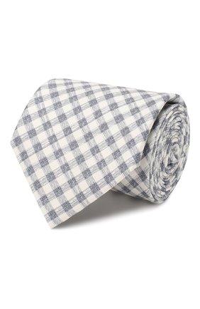 Мужской комплект из галстука и платка BRIONI синего цвета, арт. 08A900/P940L | Фото 1