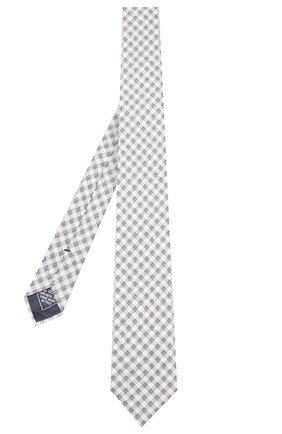 Мужской комплект из галстука и платка BRIONI голубого цвета, арт. 08A900/P940L   Фото 2