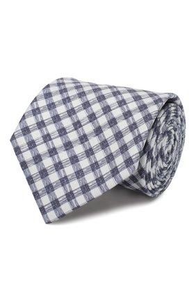Мужской комплект из галстука и платка BRIONI синего цвета, арт. 08A900/P940L   Фото 1
