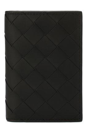 Мужской кожаный футляр для кредитных карт BOTTEGA VENETA черного цвета, арт. 592619/VCPQ4 | Фото 1