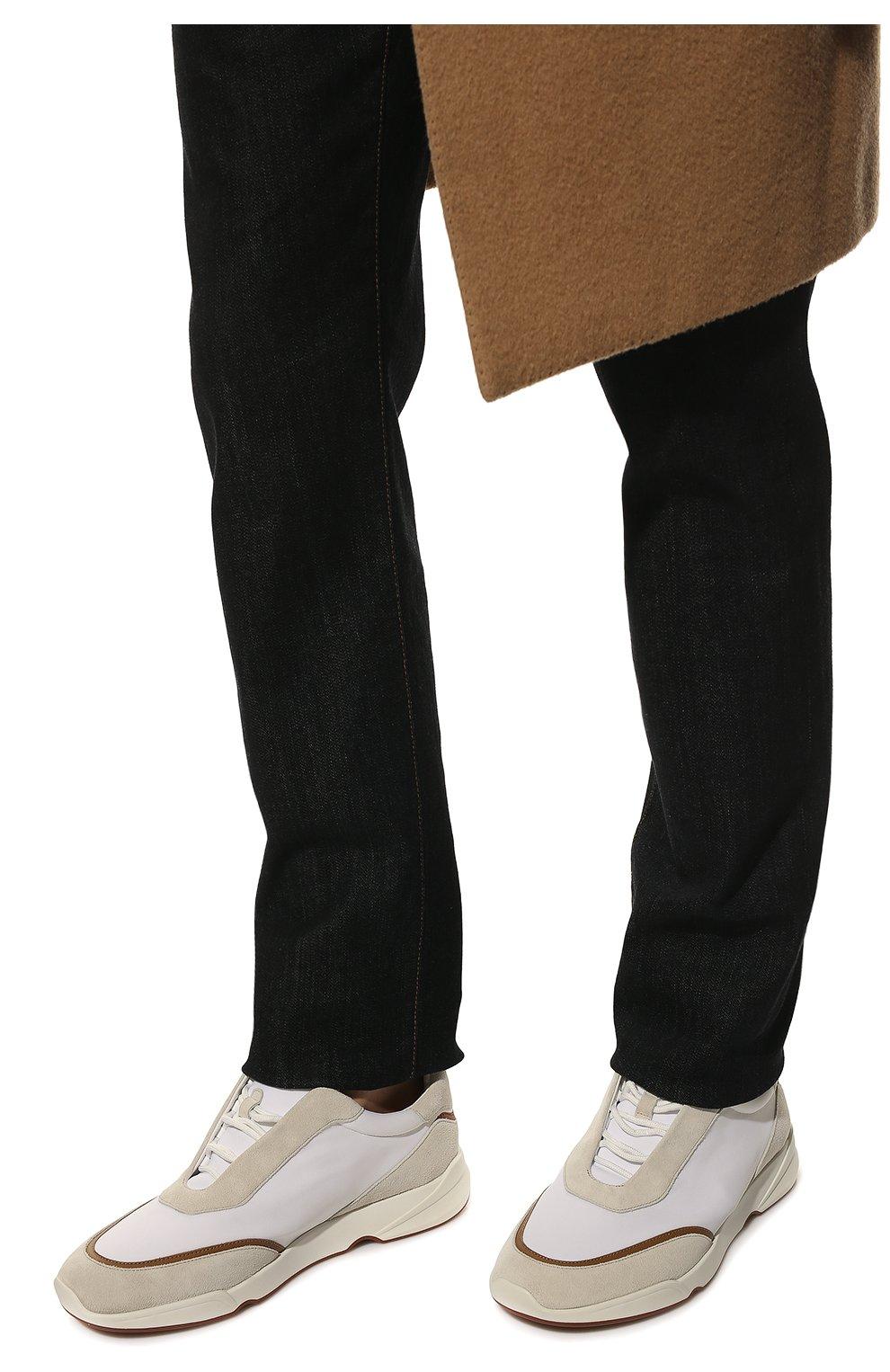 Мужские текстильные кроссовки LORO PIANA белого цвета, арт. FAL0332 | Фото 3