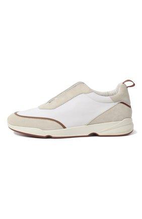 Мужские текстильные кроссовки LORO PIANA белого цвета, арт. FAL0332 | Фото 4