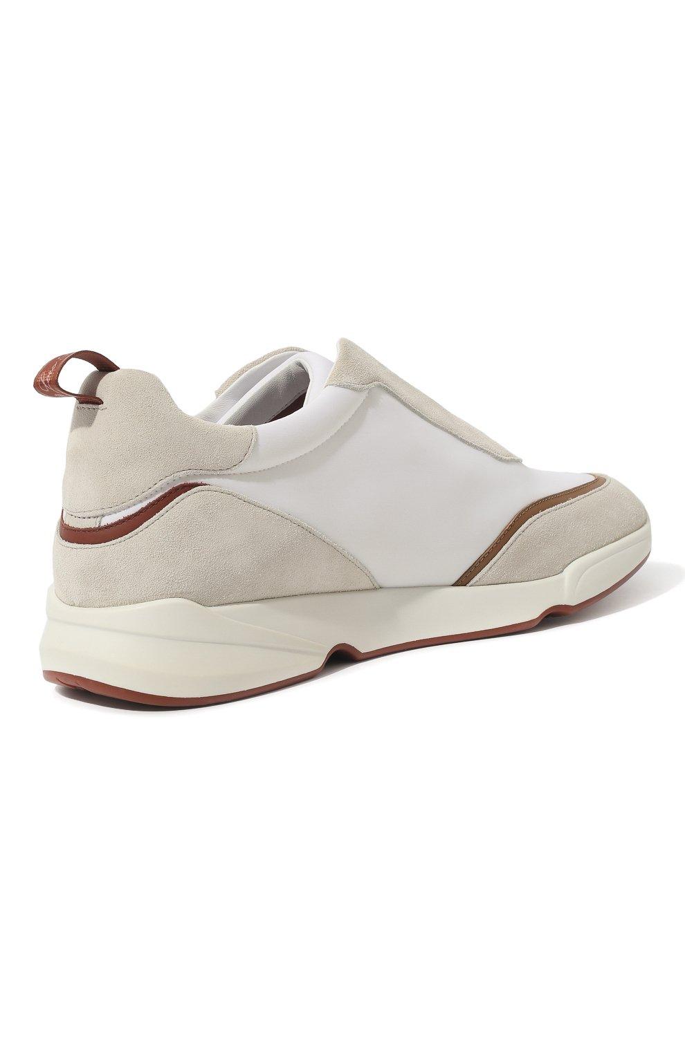 Мужские текстильные кроссовки LORO PIANA белого цвета, арт. FAL0332 | Фото 5