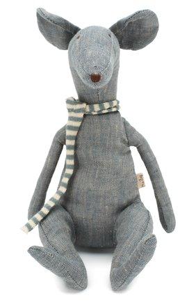 Детского игрушка крыса в коробке MAILEG голубого цвета, арт. 16-8971-01   Фото 1