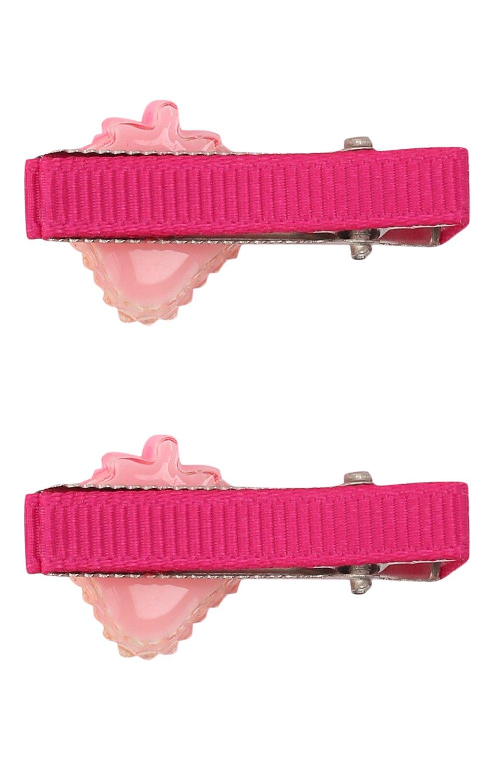 Детская комплект из 2-х заколок shiny strawberry JUNEFEE розового цвета, арт. 5891 | Фото 2