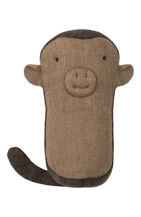 Детского погремушка обезьяна MAILEG коричневого цвета, арт. 16-8915-00 | Фото 1