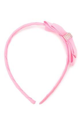 Детского ободок bow shine JUNEFEE розового цвета, арт. 6326 | Фото 1