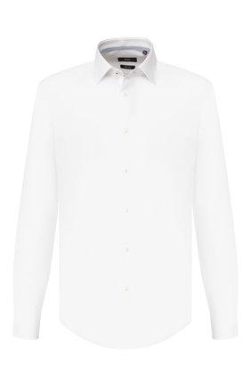 Мужская хлопковая сорочка BOSS белого цвета, арт. 50422179 | Фото 1