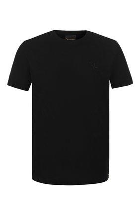 Мужская хлопковая футболка BILLIONAIRE черного цвета, арт. B20C MTK4193 BTE014N | Фото 1