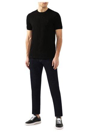 Мужская хлопковая футболка BILLIONAIRE черного цвета, арт. B20C MTK4193 BTE014N | Фото 2