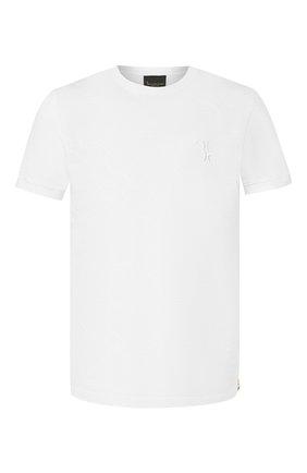 Мужская хлопковая футболка BILLIONAIRE белого цвета, арт. B20C MTK4193 BTE014N | Фото 1