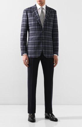 Мужской пиджак из смеси шерсти и шелка BRIONI синего цвета, арт. RGH00L/08A7L/PARLAMENT0 | Фото 2