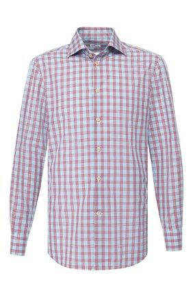 Мужская хлопковая сорочка KITON синего цвета, арт. UCIH0730445 | Фото 1